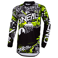 ELEMENT Youth Jersey ATTACK black/neon yellow XL