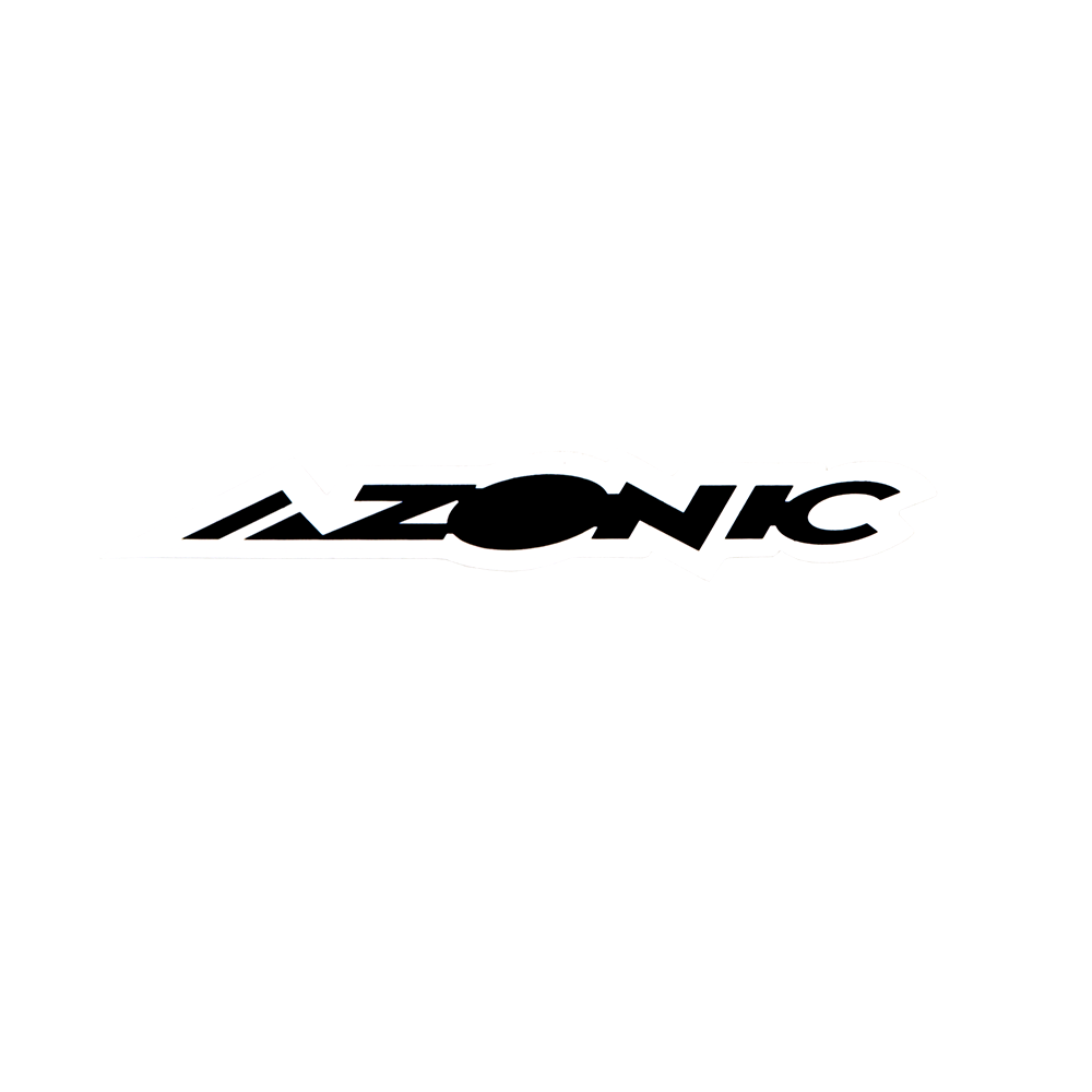 Azonic Sticker white/black 15 x 3 cm (10 pcs)